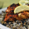 Sweet and Spicy Salmon with Lentils