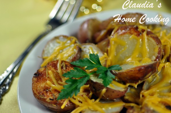 Rosemary Cheese Oven Potatoes