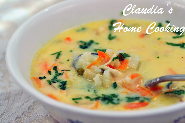A la Greque Chicken Soup
